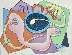 ELIZABETH MURRAY ABSTRACT OIL ON PAPER V$28,000