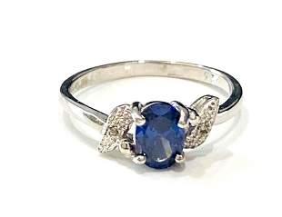 BEAUTIFUL BLUE TANZANITE .50CT OVAL SET STERLING RING