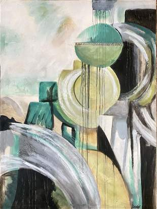 JACK KNOX ABSTRACT OIL ON CANVAS V$24,000