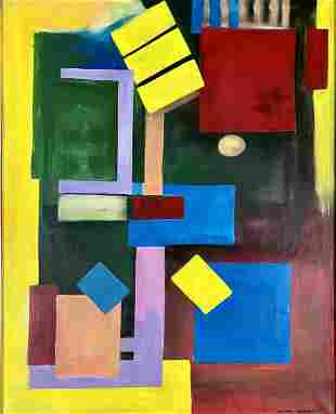 HANS HOFFMAN ABSTRACT OIL ON CANVAS V$48,000