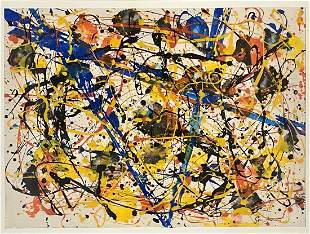 SAM FRANCIS ABSTRACT OIL ON PAPER PAINTING V$24,000