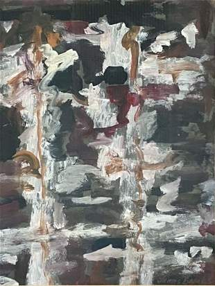 JAMES BROOKS OIL ON PAPER ABSTRACT V$16,000