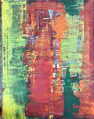 GERHARD RICHTER ABSTRACT OIL ON CANVAS PAINTING