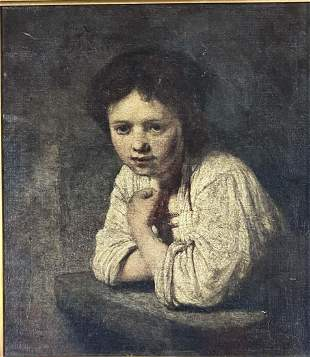 REMBRANDT REPRODUCTION PRINT ON CANVAS V$5,000