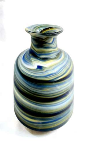 GORGEOUS FROSTED COLOR SWIRL MID CENTURY VASE