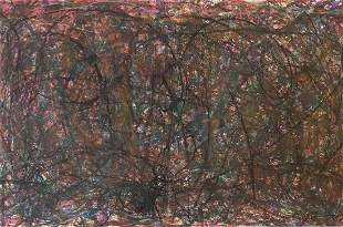 CY TWOMBLY MIXED MEDIA ABSTRACT ON PAPER V$40,000
