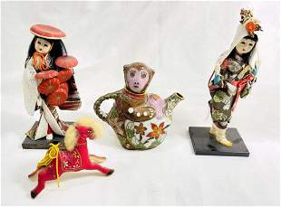 VINTAGE LOT OF ASIAN FIGURINE COLLECTIBLES