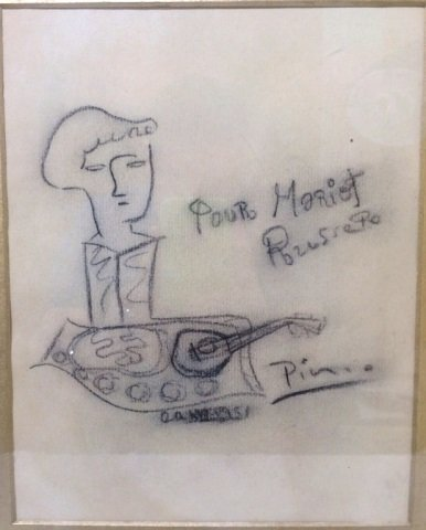 ORIGINAL PABLO PICASSO  PENCIL ON PAPER DRAWING VALUE