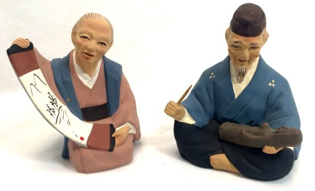 "PAIR OF VINTAGE ""TILSO"" JAPAN PORCEALIN FIGURINES"