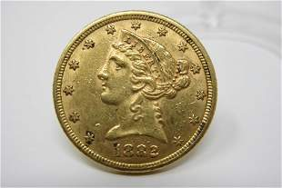 1882 Liberty Head Gold