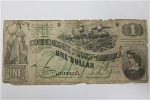 1862 Confederate Bill