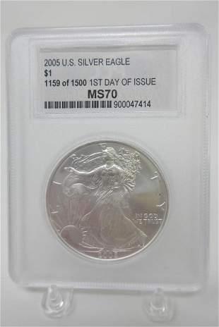 2005 US Silver Eagle