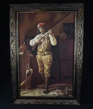 Conquistador Oil Painting