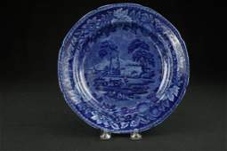 Historical Blue Staffordshire Plate 19th c. historical