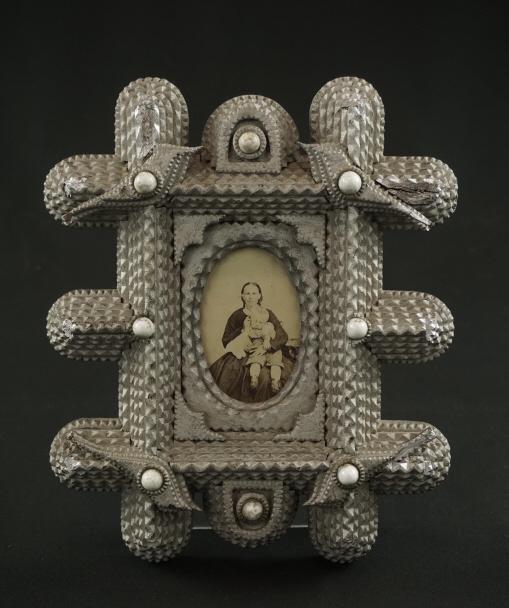 PA Tramp Art Frame PA deep carved tramp art frame w/