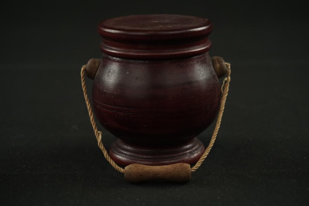 19th Century Wooden Saffron Bucket Very good 19th c.