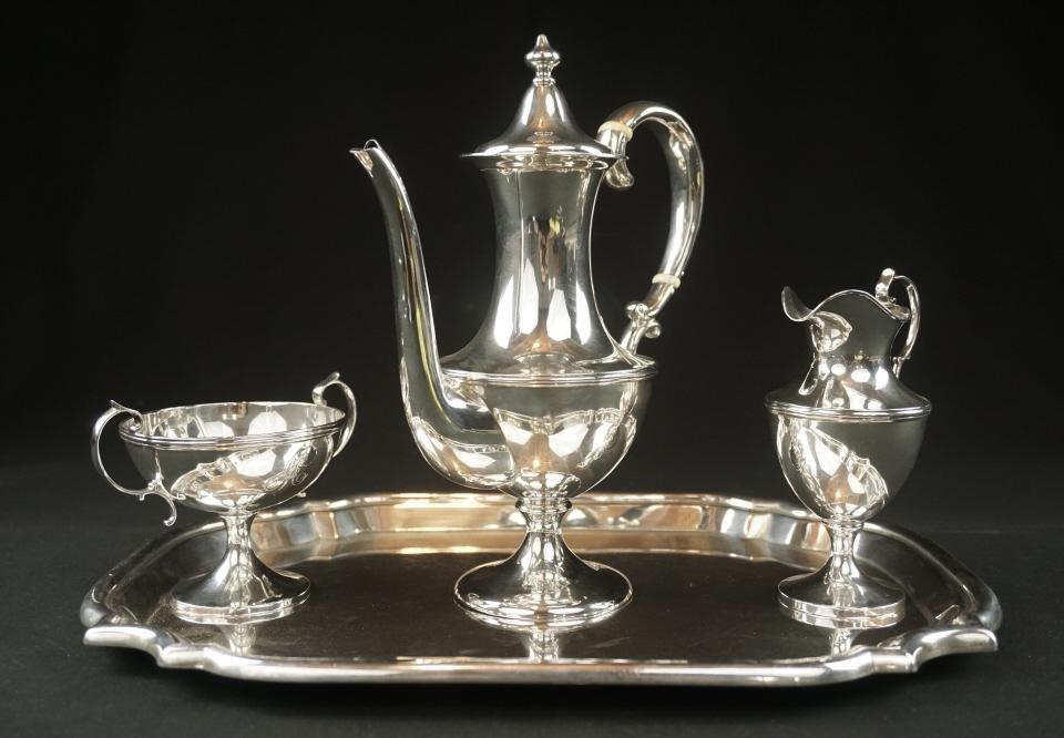 Shreve and Co. Sterling Silver Tea Service Set Shreve