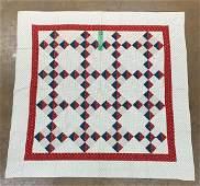 1900s Diamond Shaped Block Pattern Quilt 1900s diamond