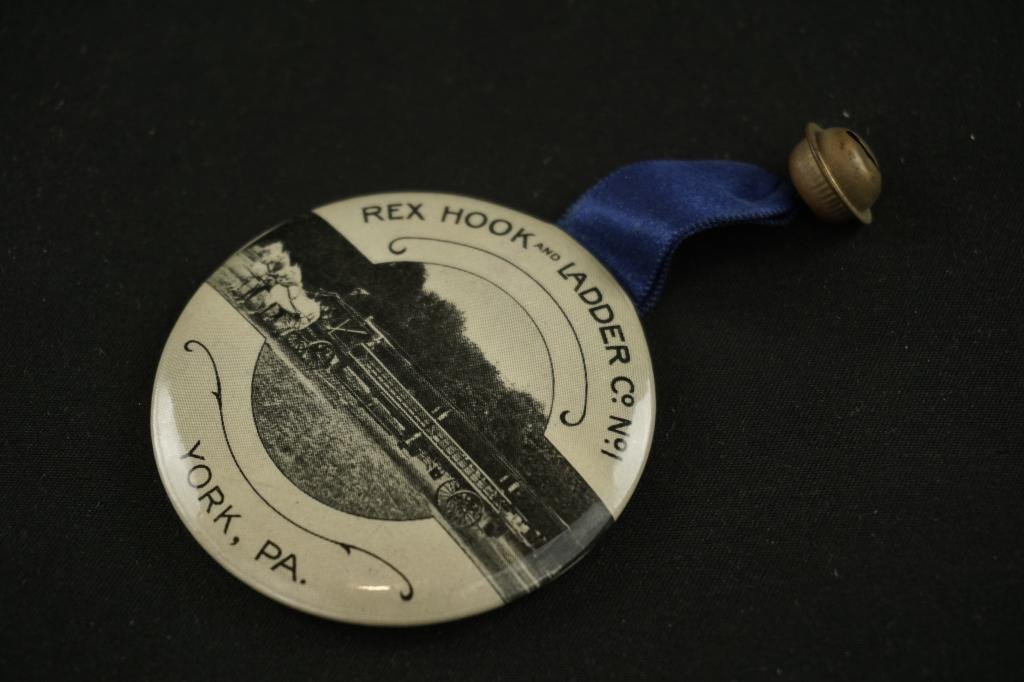 19th Century York,PA Fireman's Advertising Mirror 19th