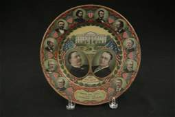 1908 William Howard Taft Political Tray & Pin 1908