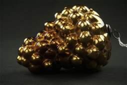 German Kugel Gold/Amber Cluster of Grapes Ornament