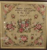 1857 Lancaster County Sampler 1857 Lancaster County