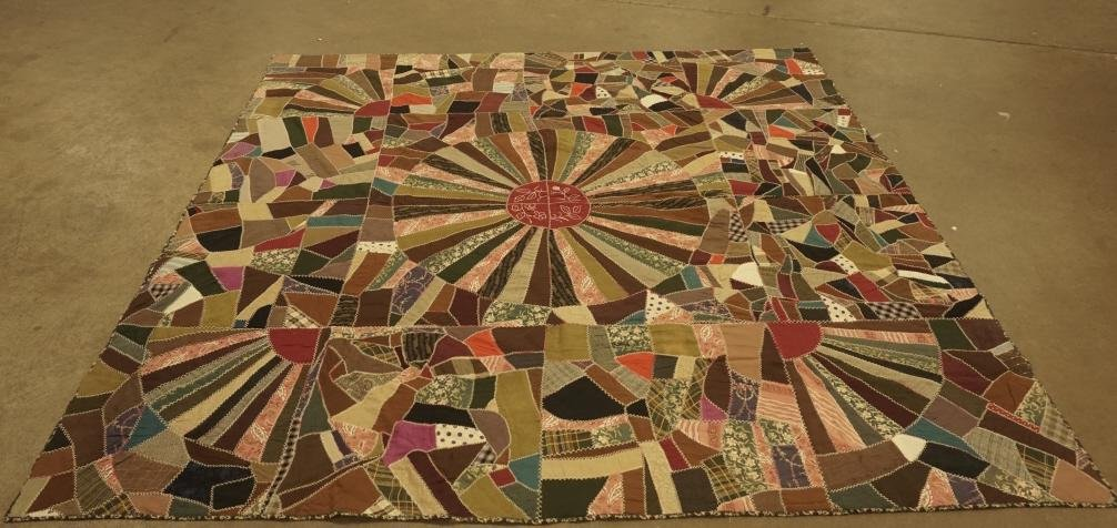 19th Century Lancaster County PA Crazy Quilt 19th c.