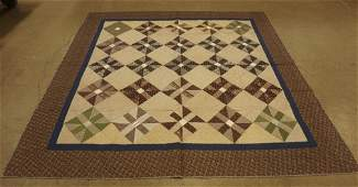 Lancaster County Diamond Block Pattern Quilt