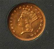 1888 $1 Gold Indian Princess Head.