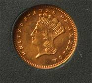 1888 $1 Gold Indian Princess Head.