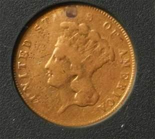 1855 1 Gold Indian Princess Head