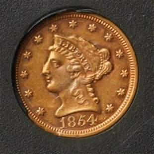 1854 2 12 Gold Liberty Eagle