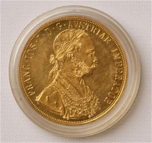 1915 Gold Austria Franc