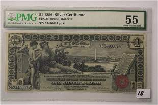 1896 1 Graded Silver Certificate