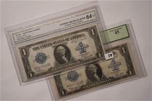 1923 1 Silver Certificate Pair