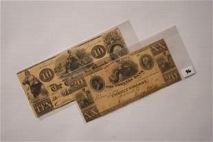 1841 Tawanda Bank Notes