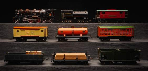Lionel Prewar 423E Std. Gauge Steam Freight Set.