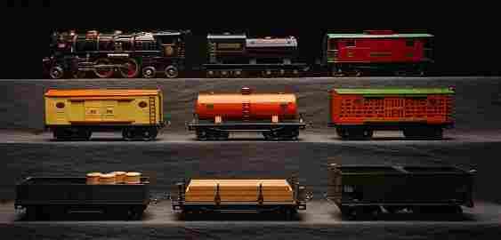 Lionel Prewar 423E Std. Gauge Steam Freight Set.