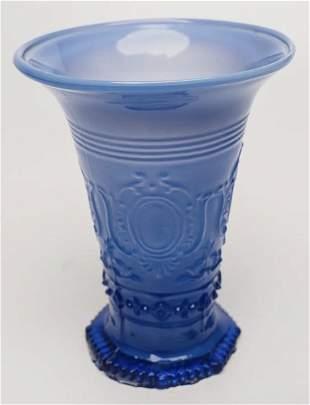 19th c French Blown Vase