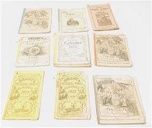 Lot of Mid 1800s Folk Art Almanac Books