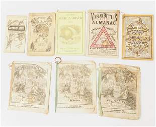 1860s1870s Folk Art Almanacs