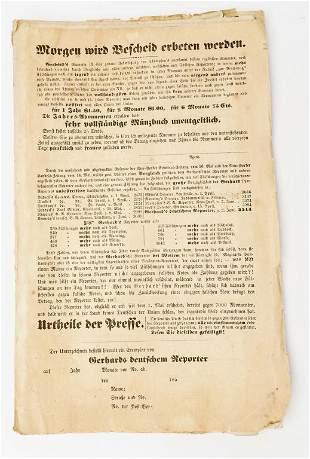 1857 NY Friedrick Gerhard German Bank Book