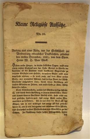 1821 PA German Folk Art Pamphlet