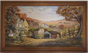 Abner Zook Fall Countryside Scene.