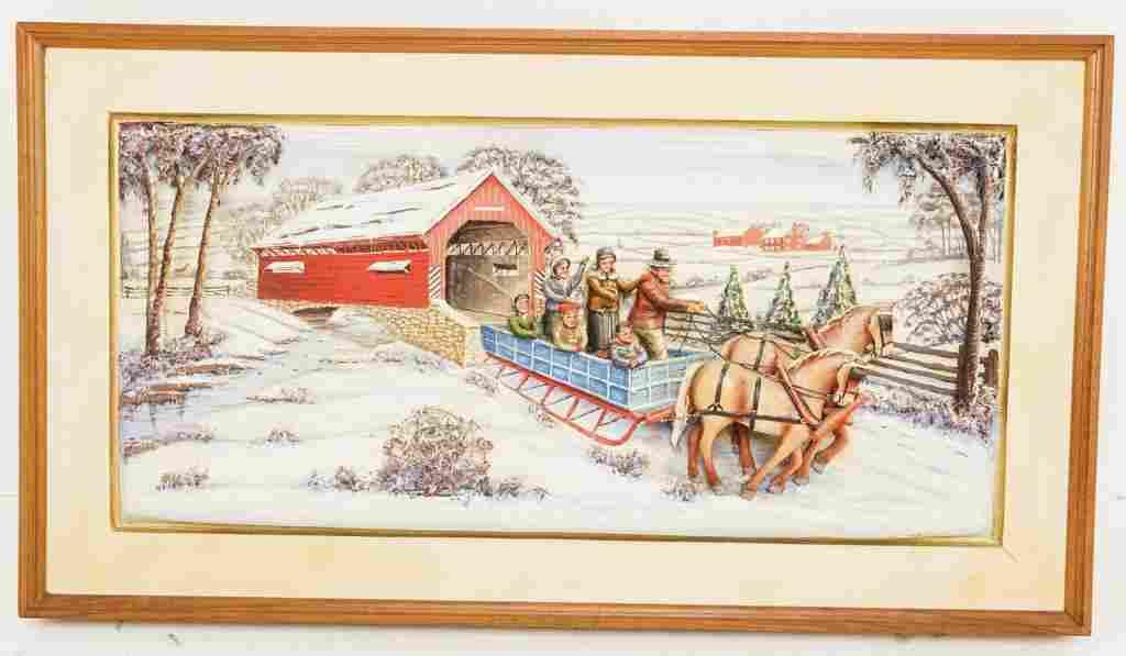 Aaron Zook Amish Sleigh Ride.