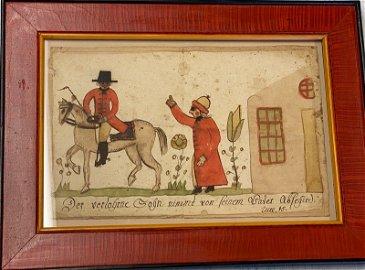 Circa 1784-1812 Friederich Krebs fraktur.