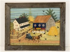 Large Bill Rank folk art painting.