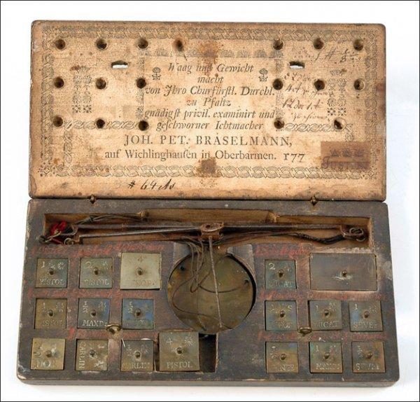 105: COIN BALANCE BY JOHAN PETER BRASELMAN, WICHLINGHAU