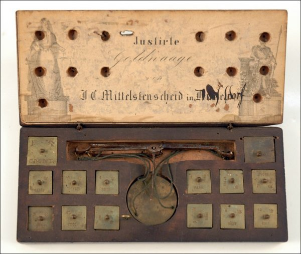 111: COIN BALANCE BY J. C. MITTELSTENSCHEID, DULSELDORF
