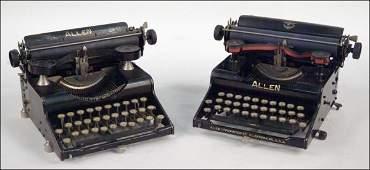 201: TWO ALLEN TYPEWRITERS.